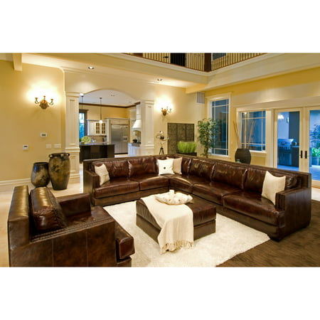 Elements Fine Home Sectional Saddle