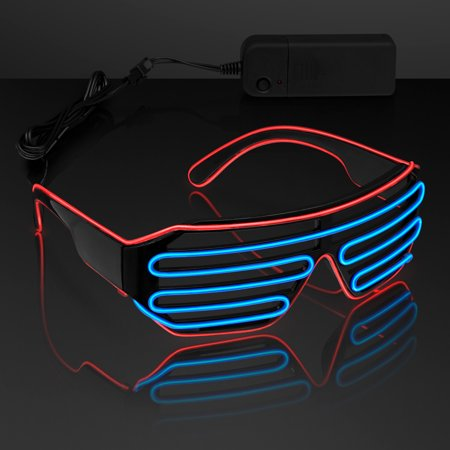 FlashingBlinkyLights El Wire Aviator Club Shades