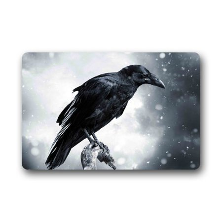 WinHome Halloween Raven Bird Doormat Floor Mats Rugs Outdoors/Indoor Doormat Size 23.6x15.7 inches](100 Floor Level 5 Halloween)