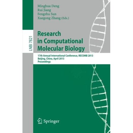 Research In Computational Molecular Biology  17Th Annual International Conference  Recomb 2013  Beijing  China  April 7 10  2013  Proceedings