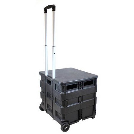 craig titan versatile folding storage cart with wheels. Black Bedroom Furniture Sets. Home Design Ideas