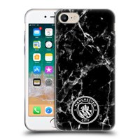 OFFICIAL MANCHESTER CITY MAN CITY FC 2017/18 MARBLE BADGE SOFT GEL CASE FOR APPLE IPHONE PHONES