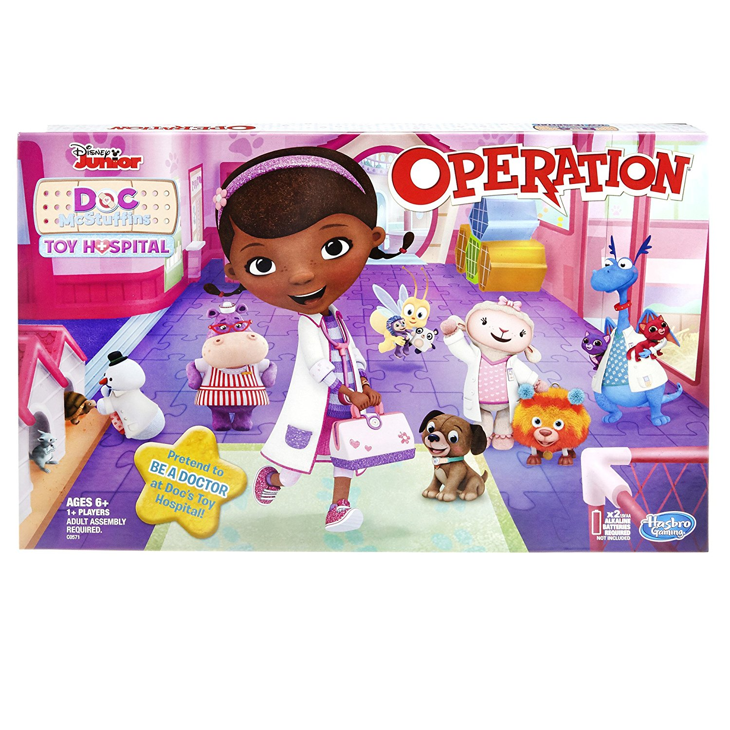 Operation Game: Disney Junior Doc McStuffins Toy Hospital Edition By Hasbro Ship from US by