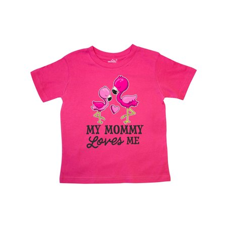 My Mommy Loves me with Two Flamingos Toddler T-Shirt (Mommy And Baby Costume)