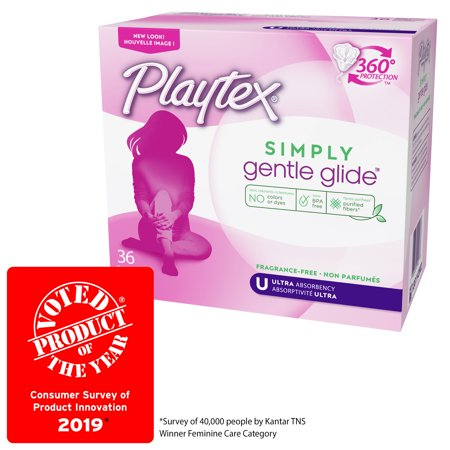 Playtex Simply Gentle Glide Unscented Tampons, Ultra Absorbency, 36 (Playtex Gentle Glide Tampons Unscented Ultra)