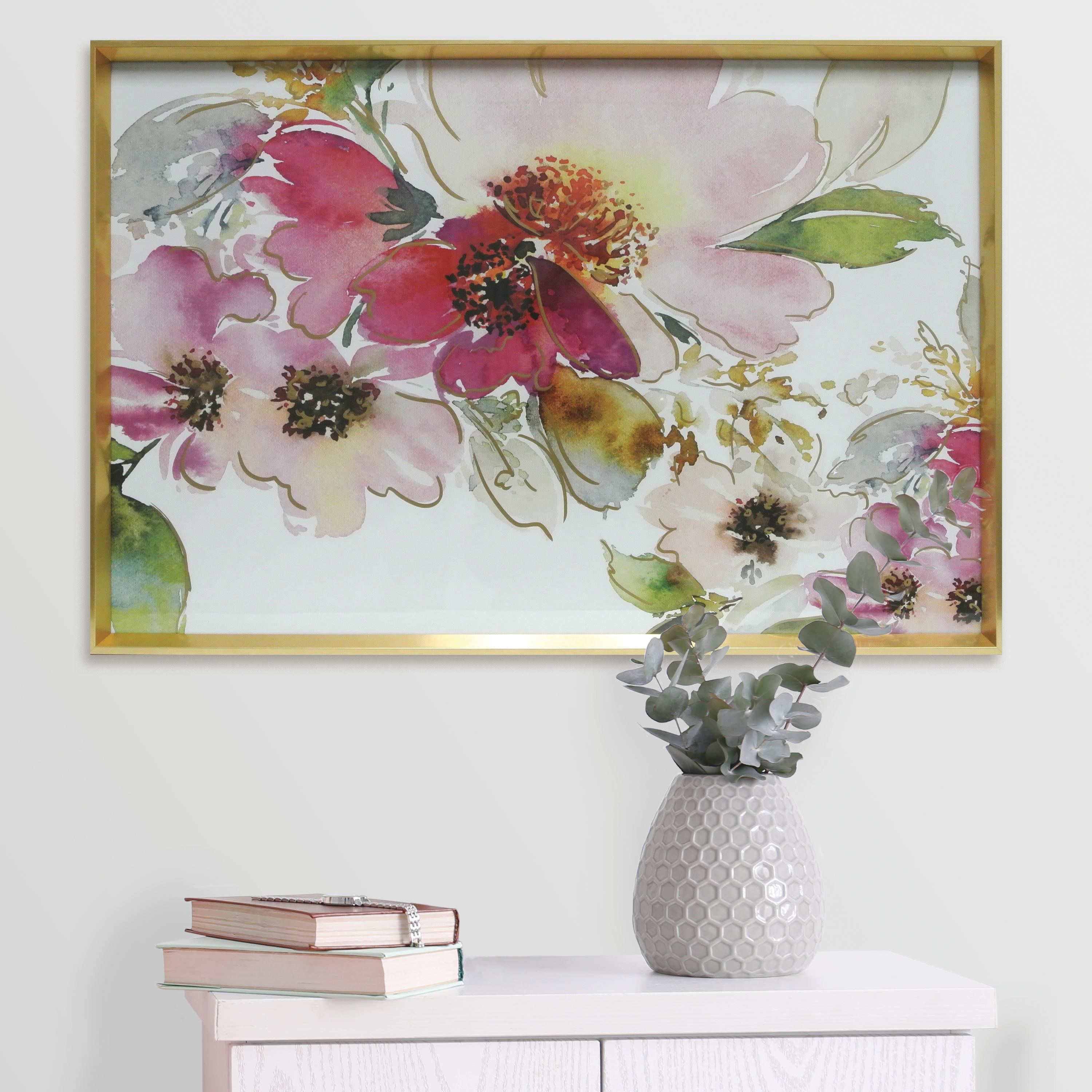 Watercolor Peonies Iii Framed Paper with Screenprint