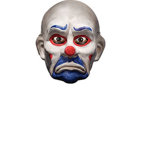 Economy Joker Clown Mask Rubies 4493, One Size - It Clown Halloween Mask