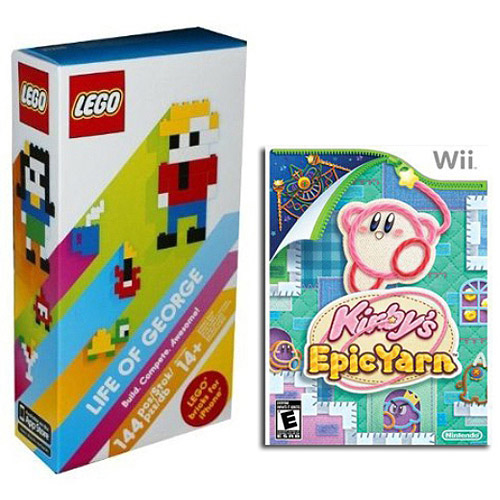 Lego Life Of George Set with Kirby Epic Yarn -Wal-Mart Exclusive - (Wii)