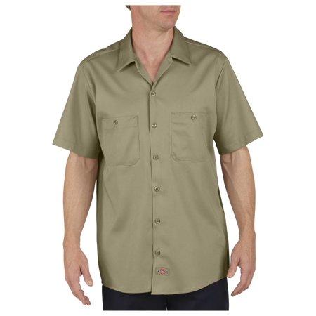 Dickies Mens Industrial Cotton Short Sleeve Work Shirt