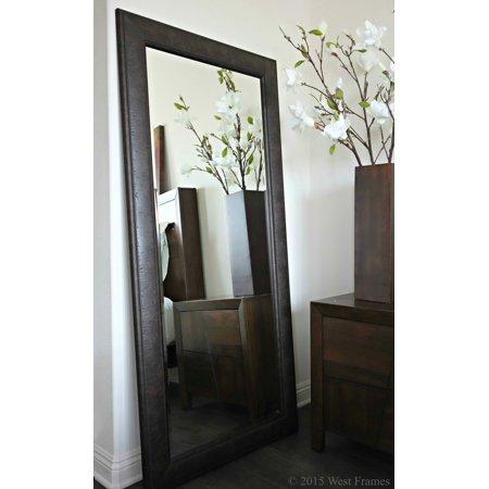 West Frames Marcello Full Floor Rustic Dark Charcoal Brown Mirror ()