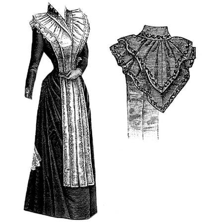 Toyo Pattern - Sewing Pattern: 1891 Fichu Cape with Tabs Pattern