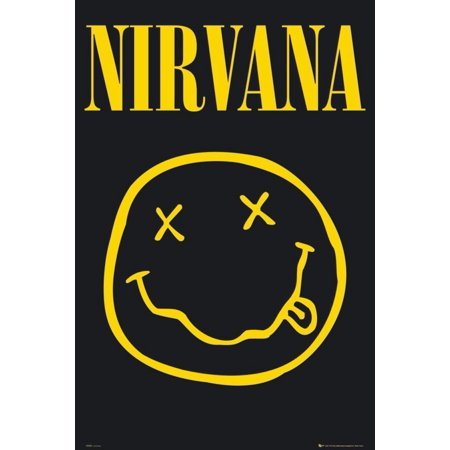 Nirvana - Smiley Face 36x24 Art Print Poster Wall Decor Rock and Roll Music Legend Kurt Cobain..., By GB Posters Ship from US](Rock And Roll Decor)