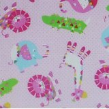 Clearance Sale~Tweetie Pie~Animals Tossed Pink~Children by Galaxy~Cotton Fabric