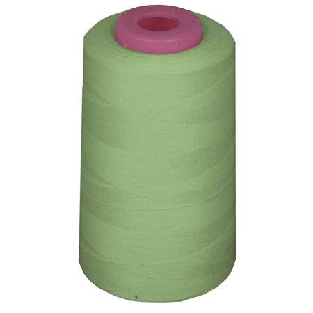 LA Linen ThreadSageA320 6000 Yards 100 Percent Polyester Cone Serger Thread, Sage - A320