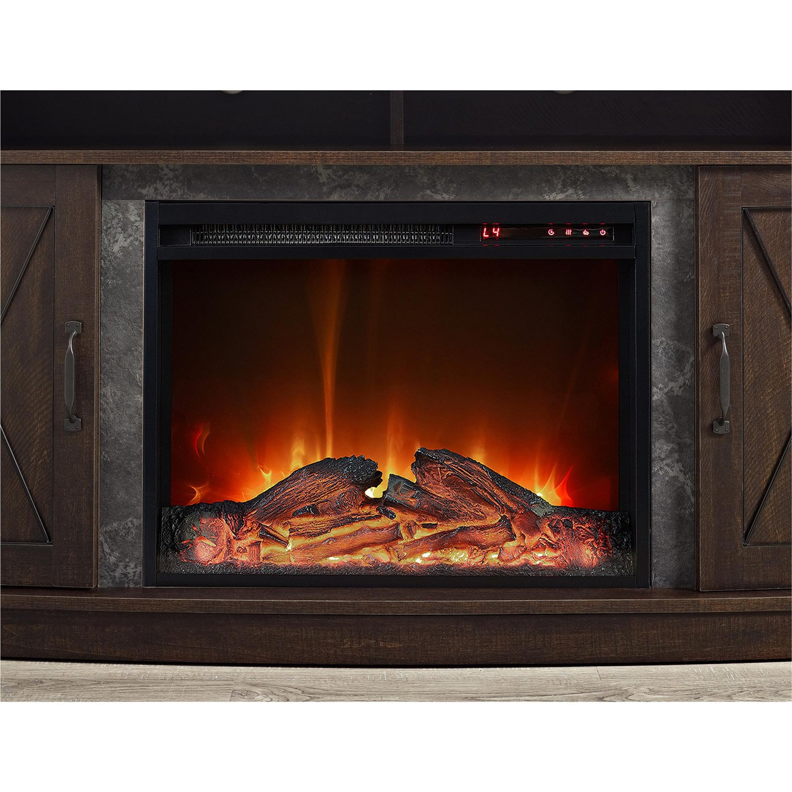 ameriwood home barrow creek electric fireplace tv stand for tvs up