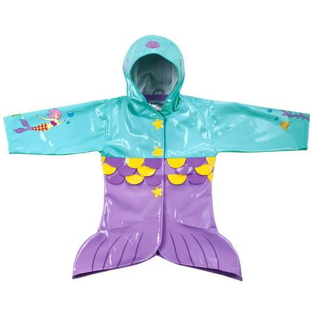 - Kidorable Kids Mermaid Rain Coat Size 1T(My 1st)