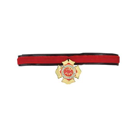 Smokin Hot Firefighter Costume (Adult Womens Smokin' Hottie Fire Fighter Choker Neckpiece Necklace)