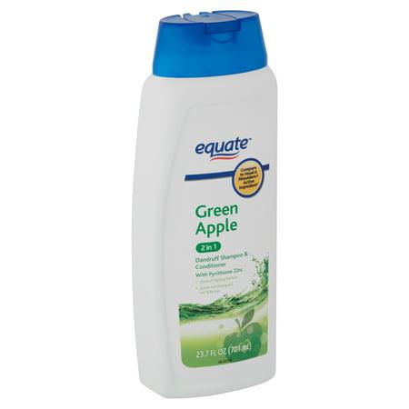 Zincon Medicated Dandruff Shampoo (Equate 2-in-1 Dandruff Shampoo & Conditioner, Green Apple, 23.7 fl oz )