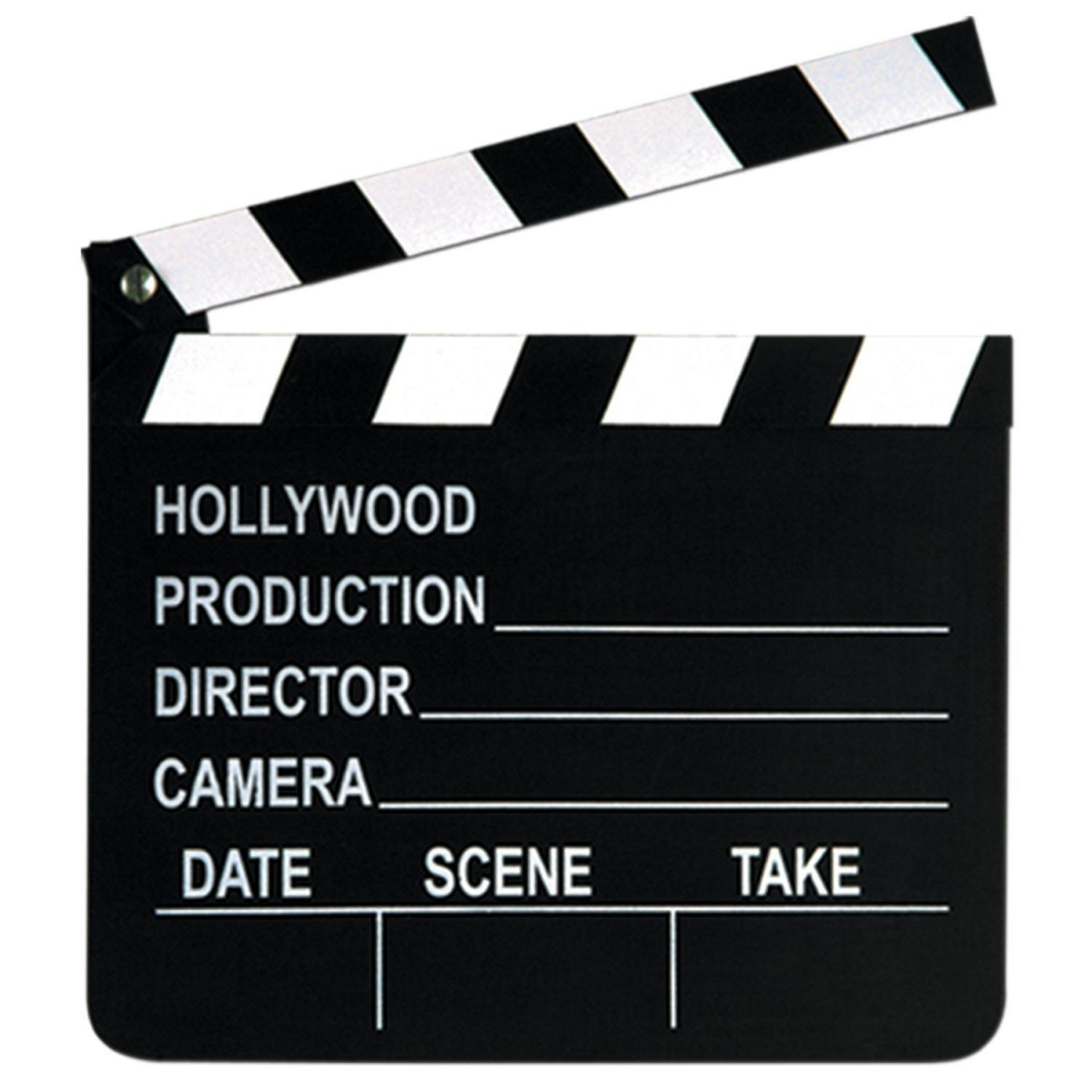 """Club Pack of 12 Movie Set Clapboards with Chalk Hollywood Themed Party Decorations 8"""""""