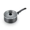 T-fal Cook & Strain Nonstick Cookware, Saucepan with lid, 3 quart, Black