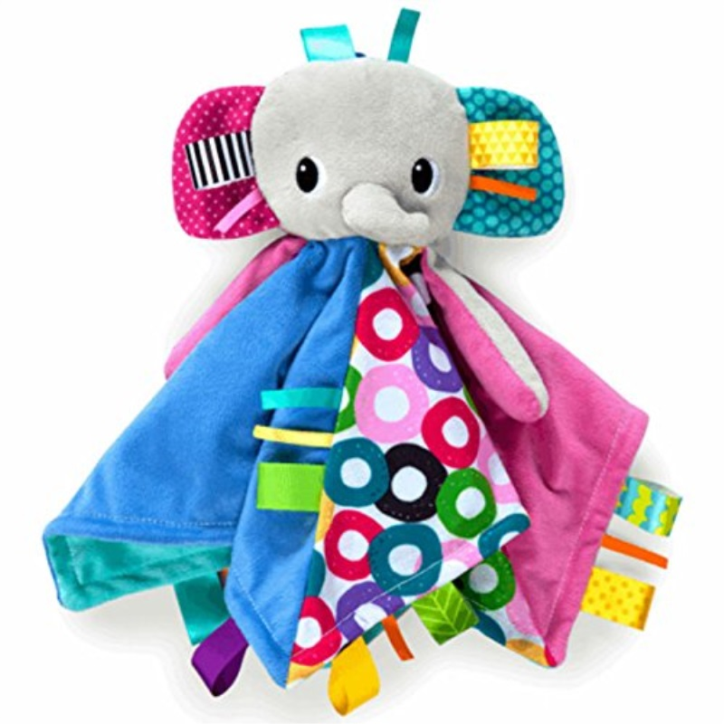 Bright Starts Cuddle n Tags Blankie Elephant by