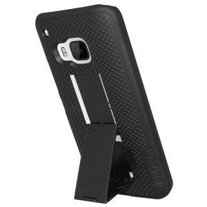 Premium Snap On Hard Shell Case for HTC One M9s, Sprint HTC One M9, HTC One M9 - Black Htc Touch Black Snap