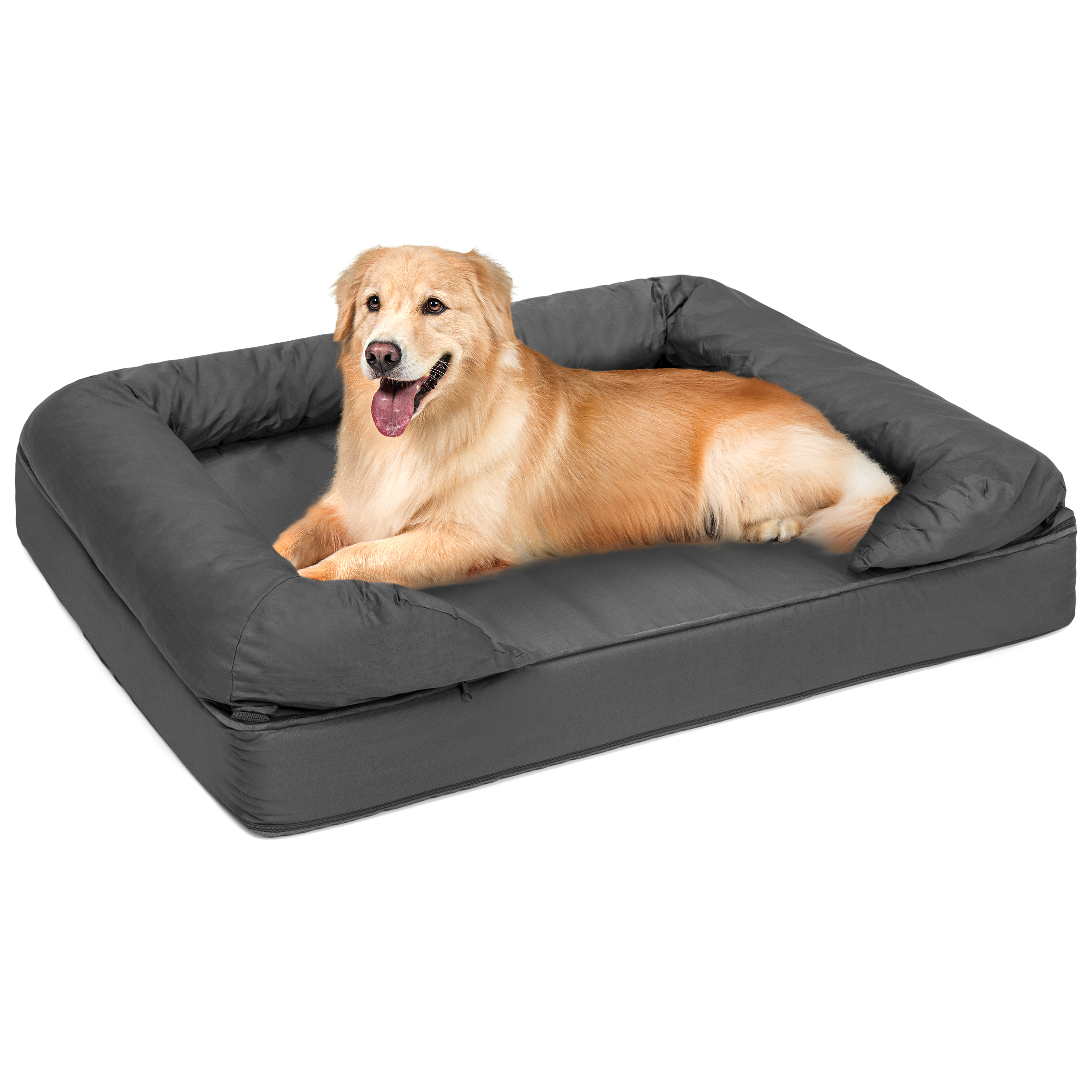 Best Choice Products Orthopedic Memory Foam Pet Sofa Bed, Large, Gray