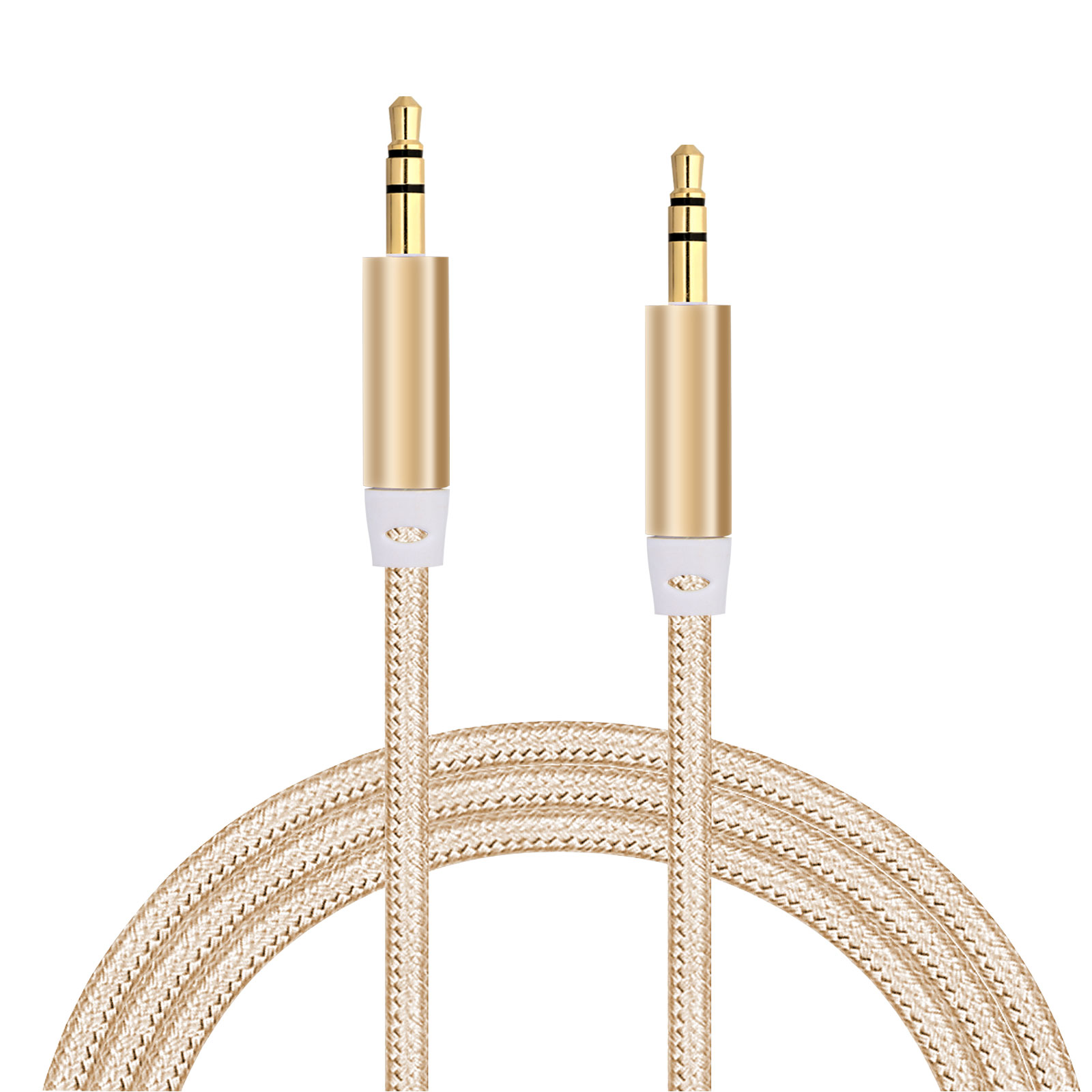 3.5mm Male to Male Auxiliary Audio Cable for Car/Auto Stereo Speakers, Headphones, Mp3 Player, iPhone, iPod, iPad & Computer