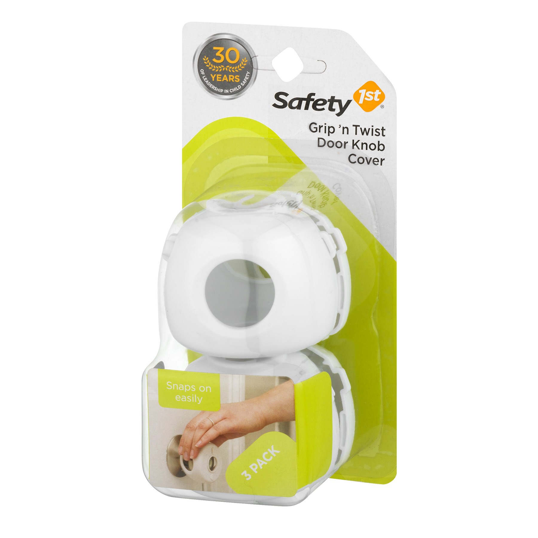 Safety 1st Grip n Twist Door Knob Covers White 3 Pack