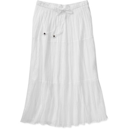 White Stag Womens Plus Size Crinkle Broomstick Skirt