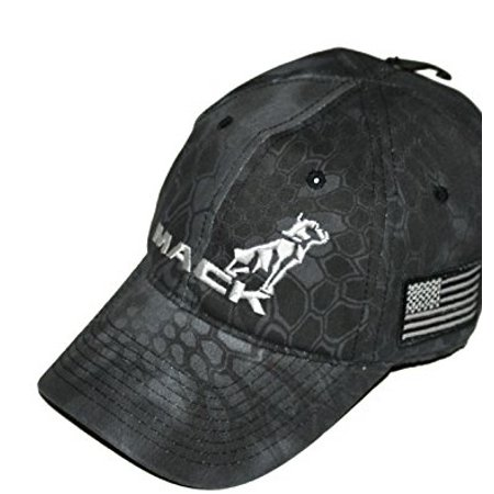 Mack Trucks Black Tactical USA American Flag Patch Hat](Mack Truck Hats)