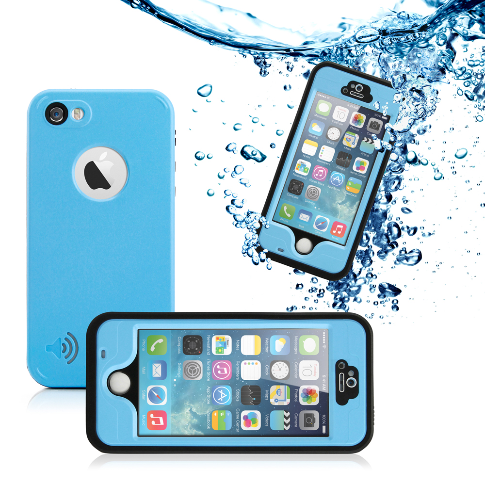 GEARONIC Durable Waterproof Shockproof Snow DirtProof Scanner Full Case Cover for Apple iPhone SE & 5 5S
