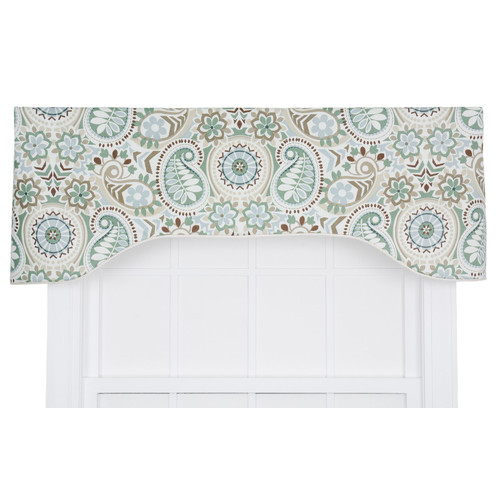 Alcott Hill Drumahaman Floral Print Lined Arched Curtain ...