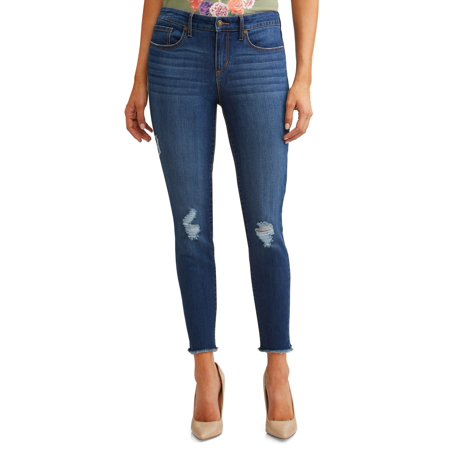 Sofía Skinny Destructed Mid Rise Ankle Jean Women