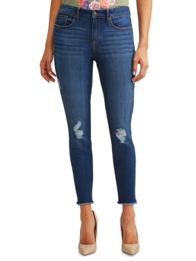 51a65d9f5629e Product Image Sofía Skinny Destructed Mid Rise Ankle Jean Women s (Medium  Wash)