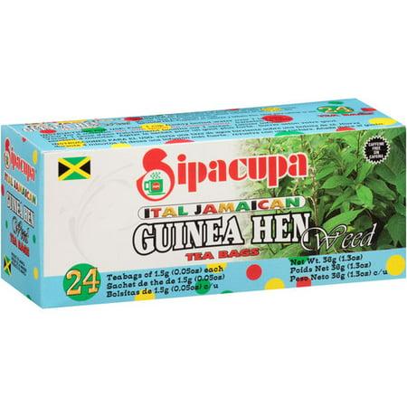 Sipacupa Ital Jamaican Guinea Hen Weed Tea Bags 0 5 Oz 24 Ct