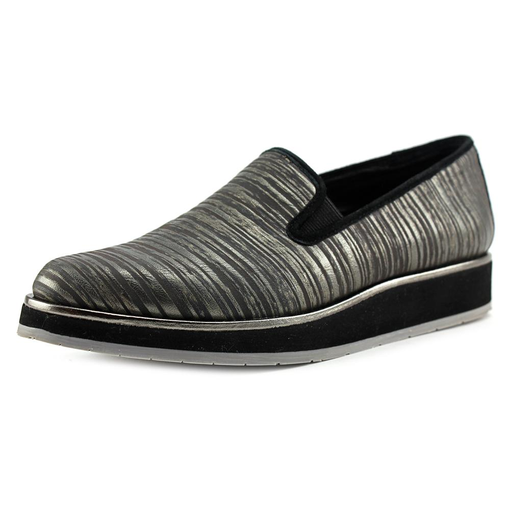 Click here to buy Donald J Pliner Betina Women Round Toe Synthetic Gray Loafer by Donald J Pliner.