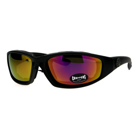 a715bfe52e7 Choppers Foam Padded Biker Wind Breaker Motorcycle Riding Sunglasses Purple  Mirror - Walmart.com