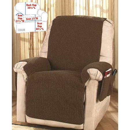 Fleece Recliner Covers Brown Walmart Com