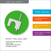 QualGear CC1-W-100-P Cable Clips