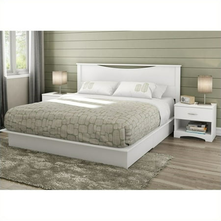 South shore step one king 4 piece bedroom set in pure - South shore 4 piece bedroom furniture set ...