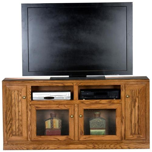 Heritage Tall Entertainment Console w Doors (Light Oak)