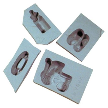 Baby Shower Rubber Mold Set, 4/pk, Mold cream cheese mints, fondant, caramels, chocolate and more with this Baby Shower Rubber Mold Set By Kitchen Krafts Rubber Mint Mold