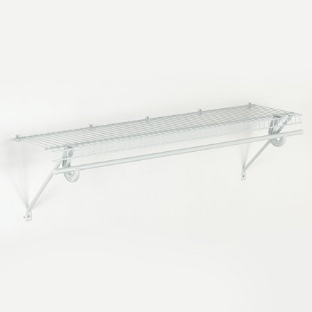 Closet Wire Shelves - ClosetMaid SuperSlide Wire Shelf Kit, 48W x 12D x 6H in