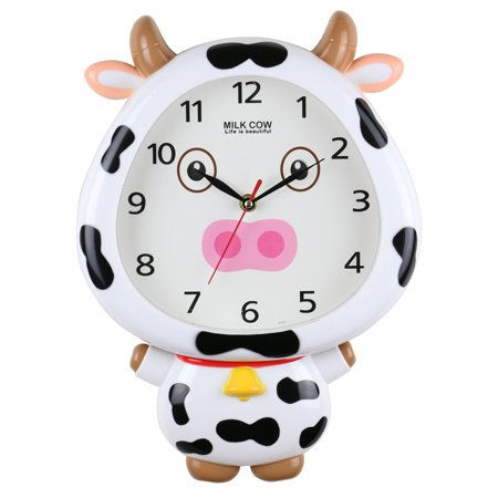 Cow Eye - Milky Cow White Interactive Wall Clock Movable Eyes Children's Cute Home Decor 14