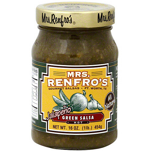 Mrs. Renfro's Hot Jalapeno Green Salsa, 16 oz (Pack of 6)