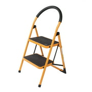 Ktaxon 2 Step Ladder, Folding Foldable Portable Step Stool,  w/ Handrail Anti-Slip Sturdy and Wide Pedal, Multi-Use for Household and Office, 330 lb. Capacity