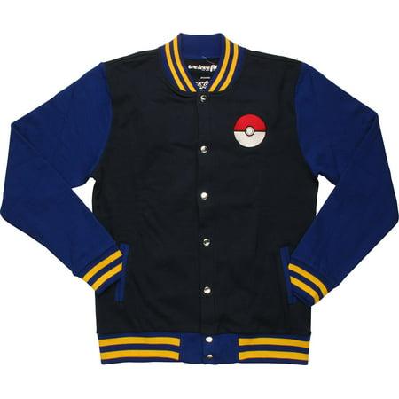 Pokemon Letterman Mighty Fine Snap Jacket](Letterman Jacket Kids)