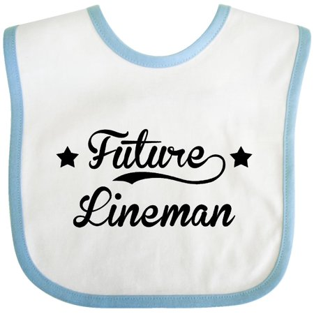 Inktastic Future Lineman Baby Bib Nfl Jr Funny Occupations Gift Clothing Infant