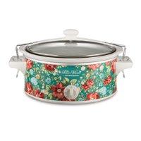 The Pioneer Woman 6-Quart Portable Vintage Floral Slow Cooker
